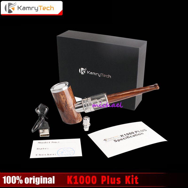 100% original kamry K1000 Plus e-pipe kit 1000 mAh pluma fumar diseño de madera e tubería cigarrillo electrónico