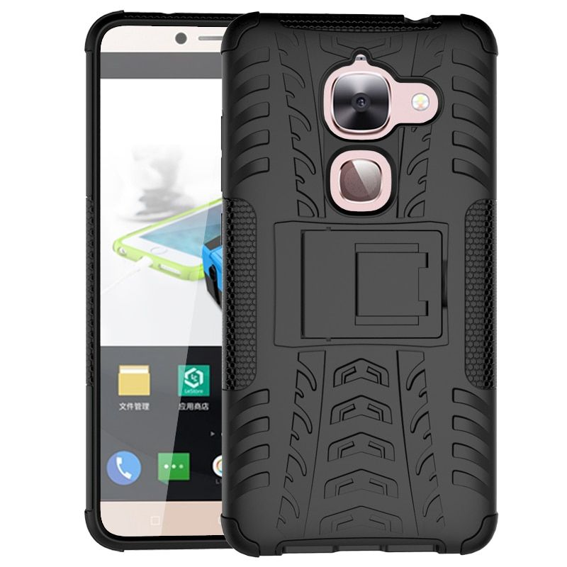 Anti-knock Case for LETV Le MAX 2 5.7 inch Tpu+pc Compact Half-wrapped Case Kickstand Business Cover for LETV Le max 2 5.7