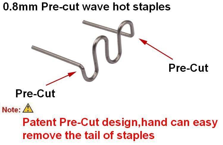 100 stücke 0,8mm Pre-cut S Welle Staples für Heiße Hefter Kunststoff Reparatur Stoßstange Karosserie/Kunststoff Löten/kunststoff warmschweißen grundnahrungsmittel