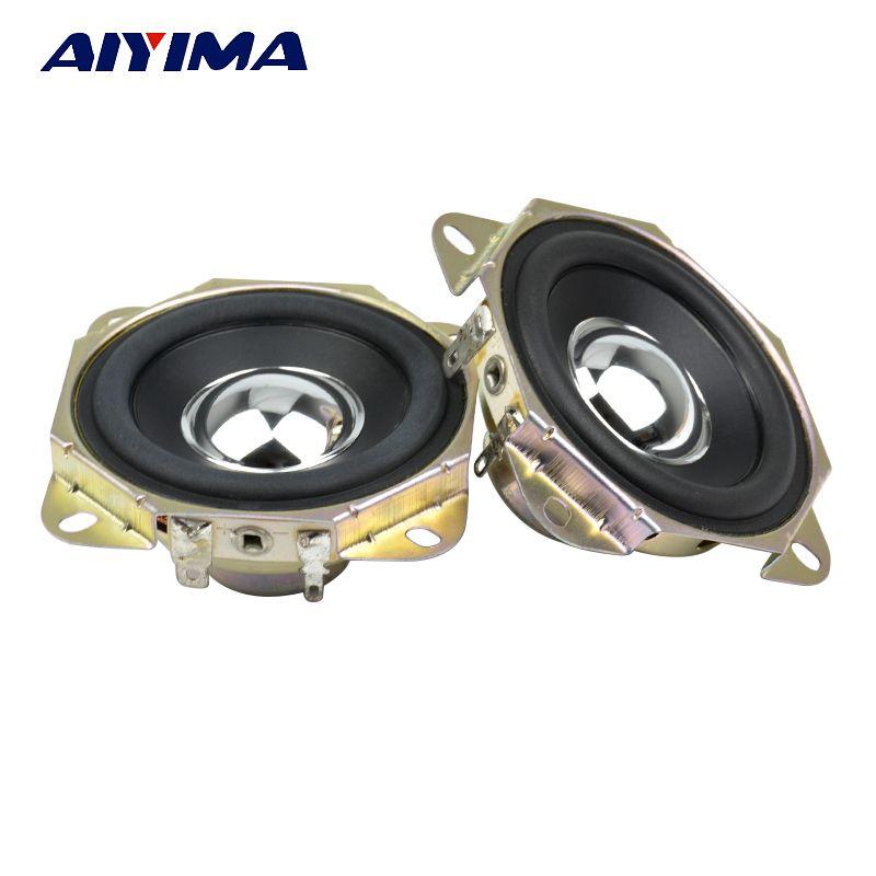 Aiyima 2 stücke 2,75 zoll Audio Lautsprecher 4ohm 15 Watt Erhebend Winkel Neodym-magnet Breitbandlautsprecher DIY