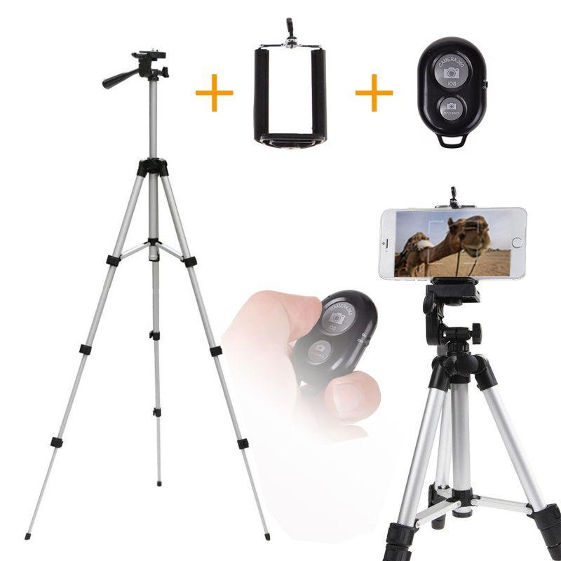 110 cm support de trépied professionnel pour Smartphone support de montage pour iPhone Samsung téléphones mobiles avec trépied accessoires télécommande