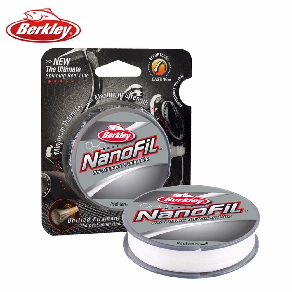 Original Berkley Brand NanoFil 150yd 137m Fishing Line Clear Mist Uni-Filament Fishing Line Zero-Memory 6lb 8lb 10lb