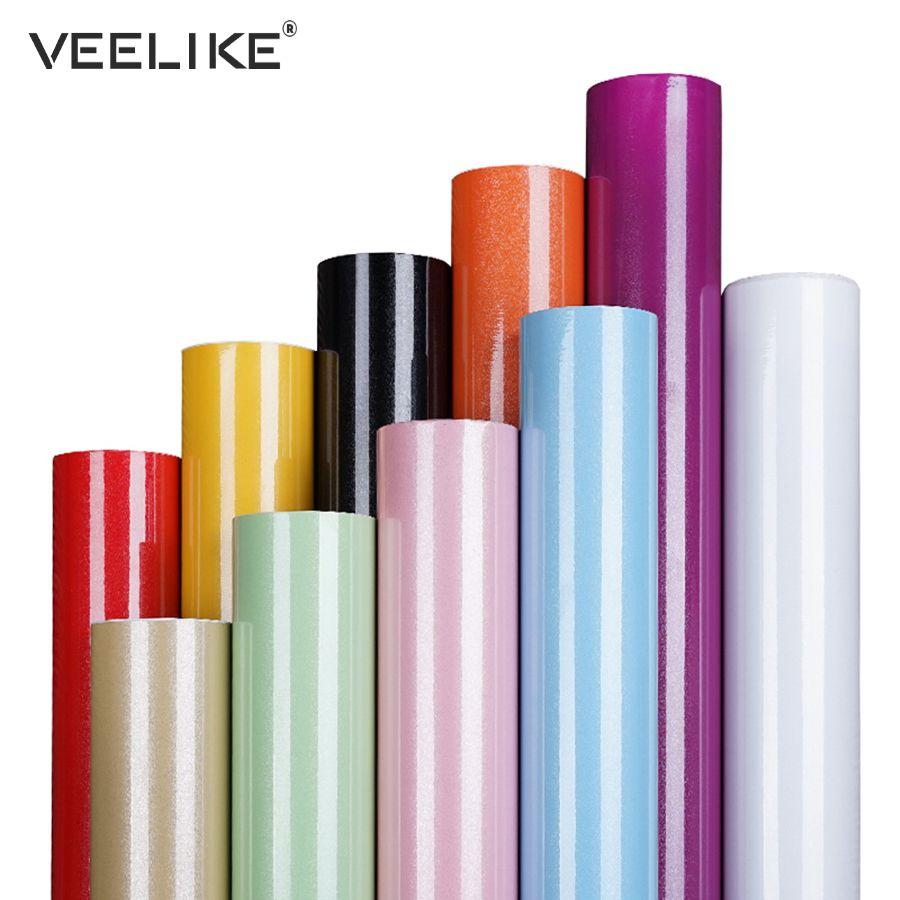 DIY PVC Auto-Adhésif Papier Peint Meubles Film Stickers Muraux pour la Cuisine Porte de L'armoire Vinyle Contacter Papier Décor À La Maison Stickers Muraux