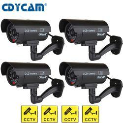 4 шт. (1 мешок) муляж камеры водостойкие CCTV камера наружная, внутри помещений Манекен Поддельные камера светодиодный ночь свет товары теле и в...
