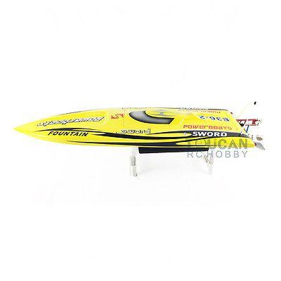 E36 PNP Sword Fiber Glass Racing Speed RC Boat W/1750kv Brushless Motor/120A ESC/Servo Boat Yellow