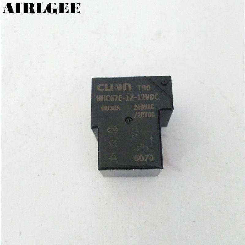 DC 12 V Coil SPDT 6 Pin 40A Mini Leistungsrelais PCB Typ HHC67E-1Z (T90) Freies Verschiffen