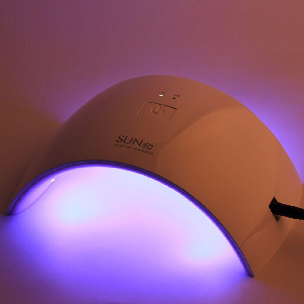 UVLED Lamp Nail 24W UV Lamp Nail Gel Polish Machine SUN9C SUN9X Manicure Pedicure Varnish Dryer Lamp For Drying Nail Polish