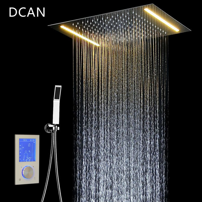 DCAN Digitale Dusche Set Controller Touch Control Panel SUS304 Regen Badezimmer Thermostat Control Led Digital Dusche Wasserhahn