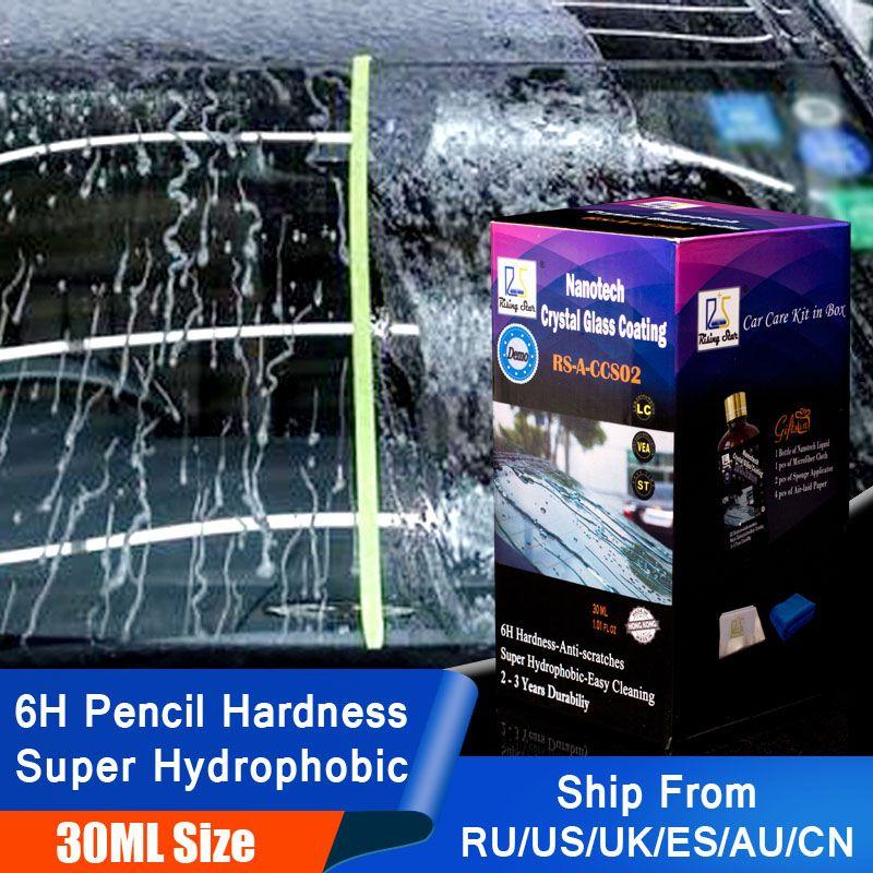 Étoile montante RS-A-CCS02 pluie et hydrofuge Nano hydrophobe protecteur de fenêtre cristal verre revêtement 30ml Kit pour Test de démonstration