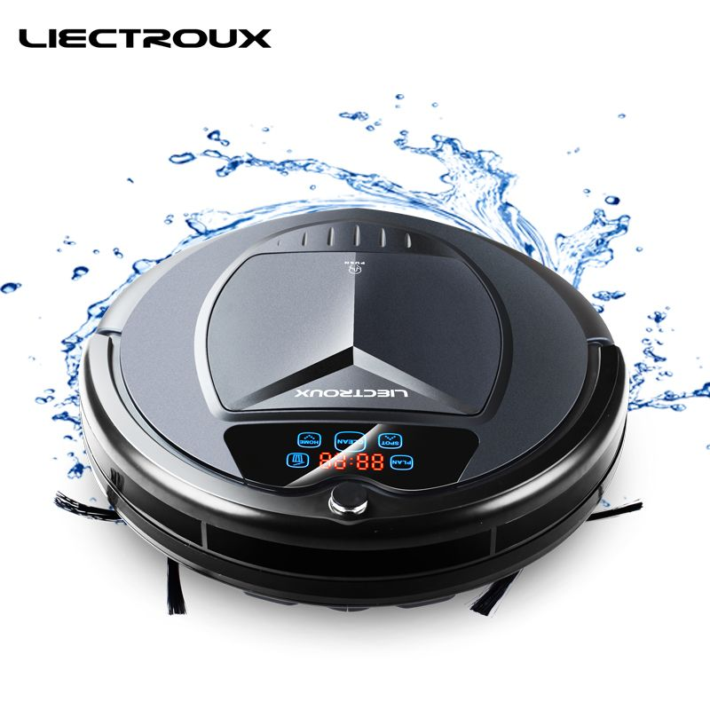LIECTROUX B3000PLUS Robot Vacuum Cleaner, with Water Tank,Wet&Dry,withTone,Schedule,Virtual Blocker,Self Charge,UV,Matt Finish