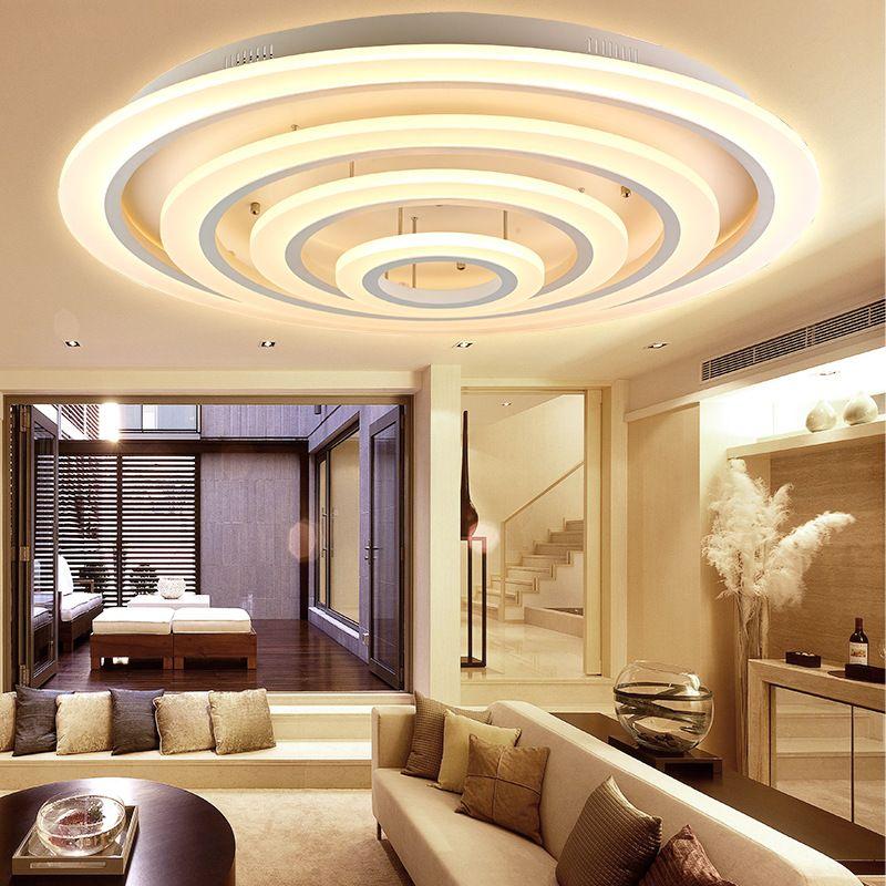 Современные акриловые светодиодный потолочный светильник дизайнерский спальня потолочный светильник геометрический лампа геометрически...