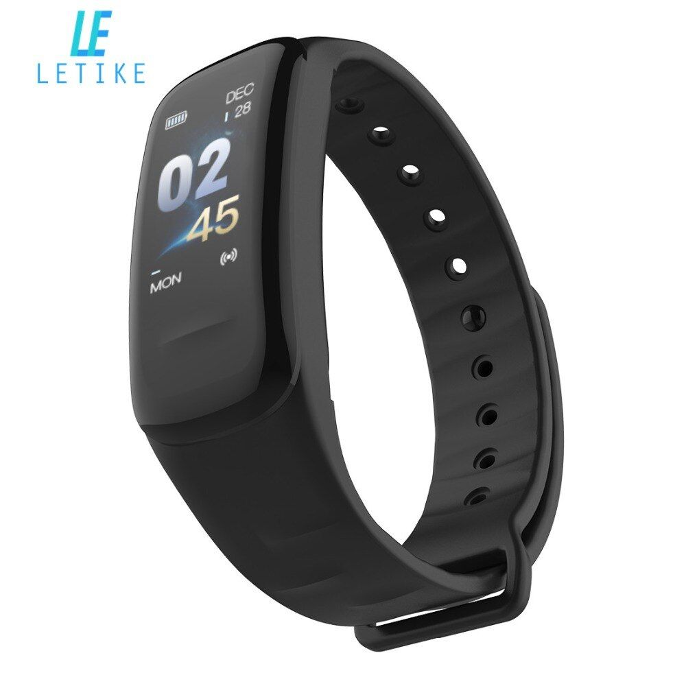 Letike C1s Smart Bracelet Color-screen Fitness Tracker blood pressure Heart Rate <font><b>Monitor</b></font> sleep tracker Wristband For Android IOS
