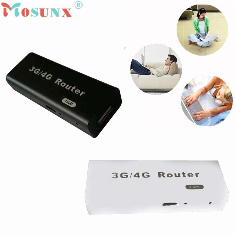 Prix usine Vente Chaude Bonne Mini 3G/4G WiFi Wlan Hotspot AP Client 150 Mbps RJ45 USB sans fil Routeur AU4 Drop Shipping
