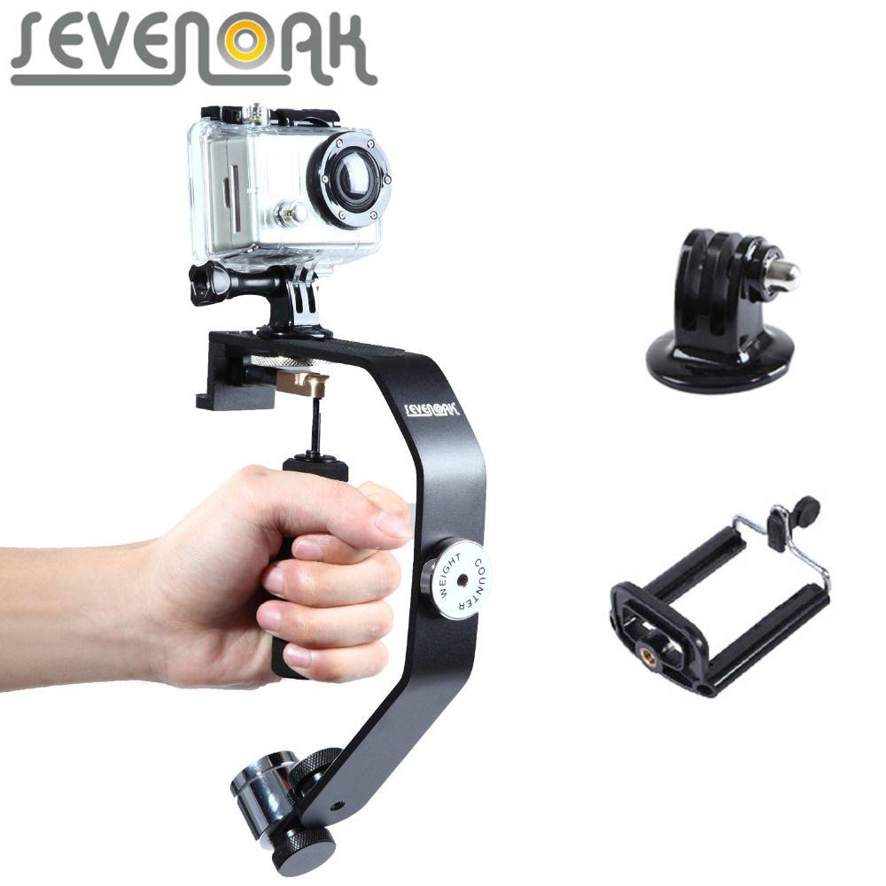 Sevenoak SK-W08 stabilisateur de caméra de mouvement cardan stabilisateur de poche pour iPhone 7 6 6 s 5 4 s GoPro Hero 4 3 3 + Sony DV DSLR caméra