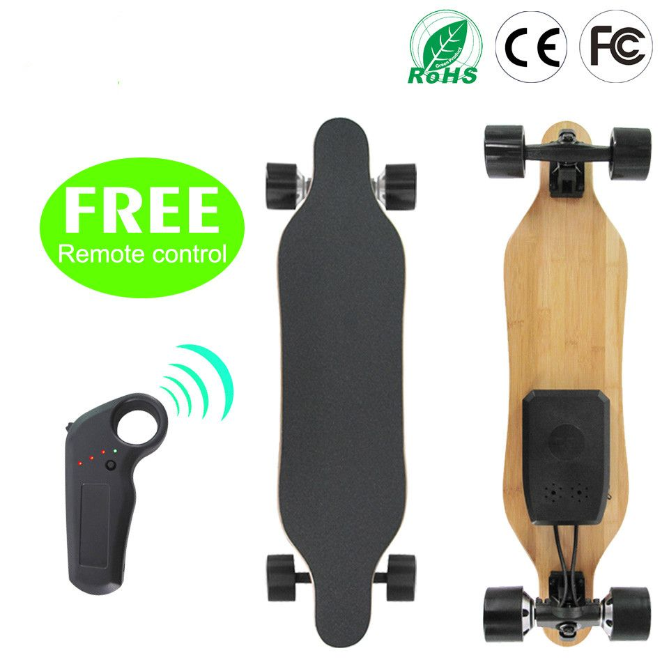 Electric Longboard Professional Skateboard Street Road Skate Board 4 Wheel Long Board 7 Layers Maple 1 Layer Bamboo