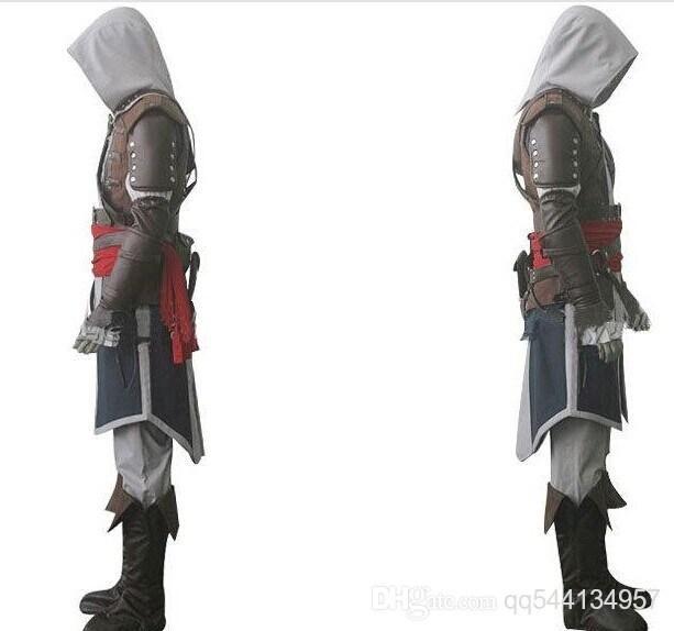 NOUVEAU Assassin 4 de Livraison gratuite Creed IV Black Flag Edward Kenway costume cosplay ensemble complet fait sur mesure DHL Gratuite