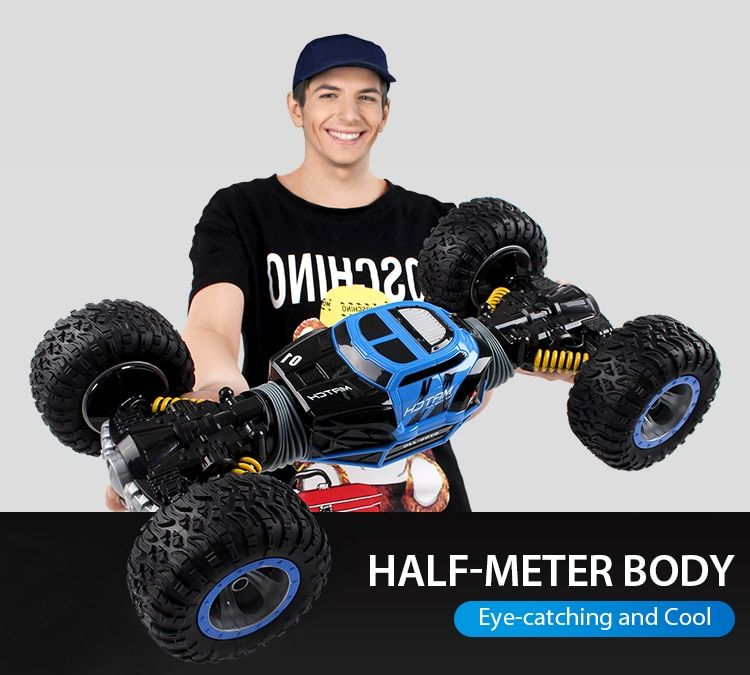 1:10 Scale Double-sided 2.4GHz RC Car One Key Transformation All-terrain Vehicle Varanid Climbing Car Remote Control Toys