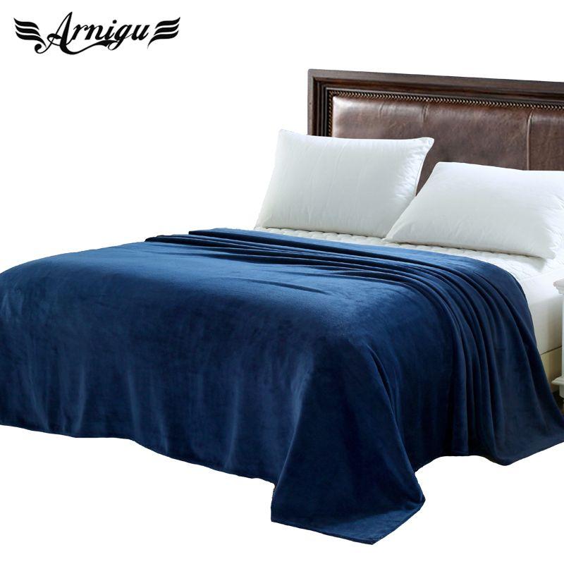 Königin größe plaids 200x230 cm 14 verschiedenen farben sofa/luft/bettwäsche Wirft einfarbig reise Flanell decke oder winter bettlaken
