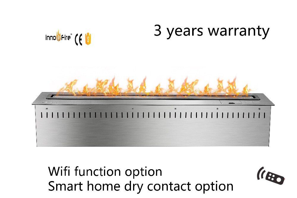 36 inch silver  or black Smart Remote control intelligent ethanol fire fireplace