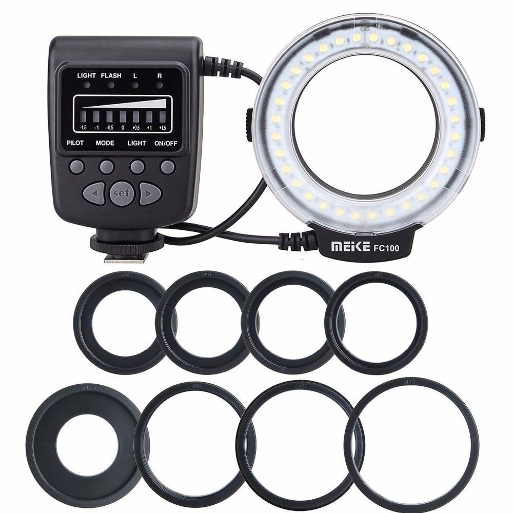 Meike FC-100 pour Nikon, FC-100 Macro Ring Flash/Lumière pour Nikon D7100 D7000 D5200 D5100 D5000 D3200 D310