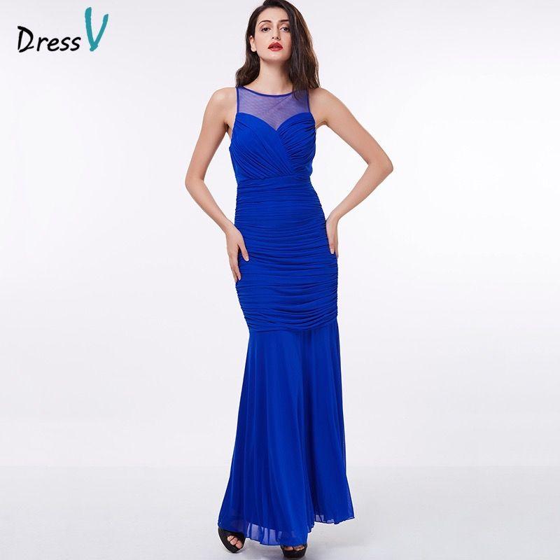 Dressv evening dress cheap royal blue sheath sleeveless floor length grape formal party dress black gown long evening dresses