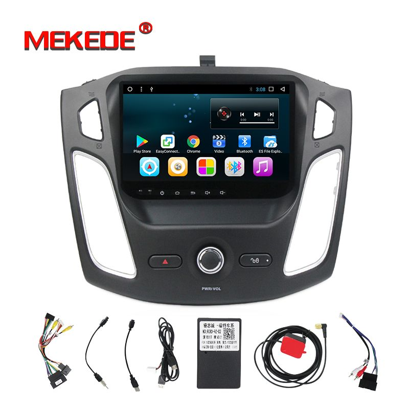 New Arrival! Quad core processor android 7.1 car multimedia DVD player for Ford Focus 3 2011-2015 radio vedio 4G wifi bluetooth