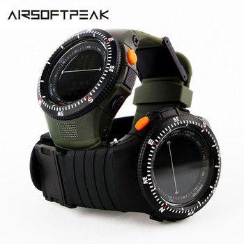 Military Tactical Multifunctional Waterproof Shockproof Watch Durable Outdoor Climbing Running Men Wristwatch Stopwatch Digital