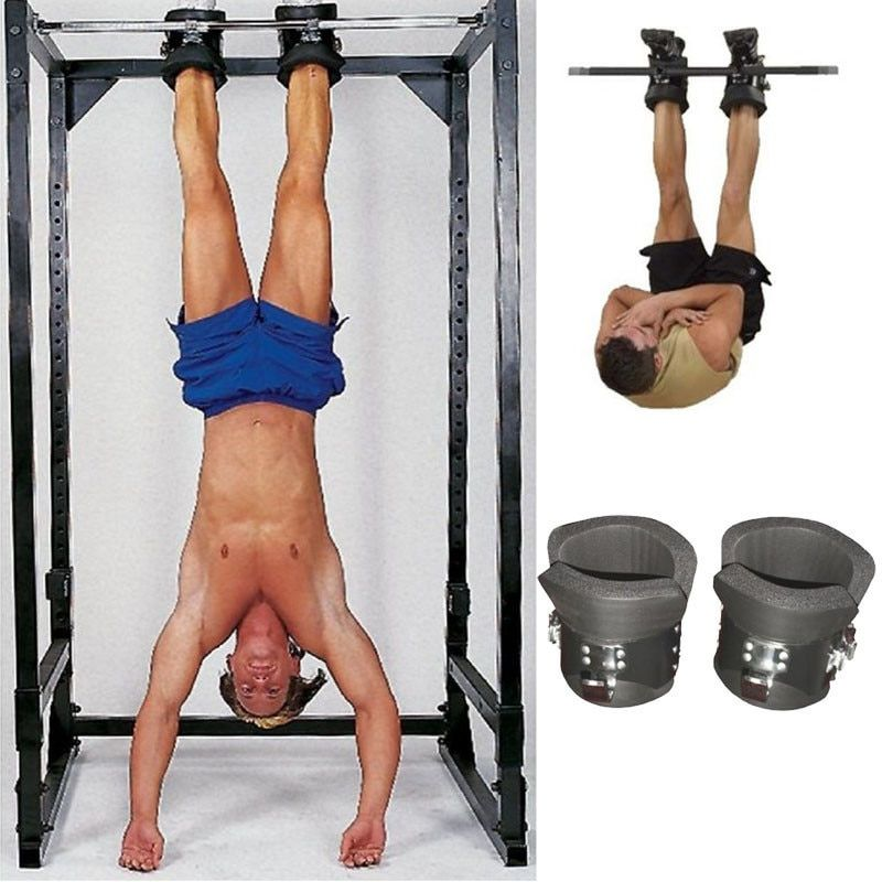 Fitness Chin Up System Gravity Boots Safety Locking Inversion Boots Therapy Ankle Ab Gym Body Building Equipment