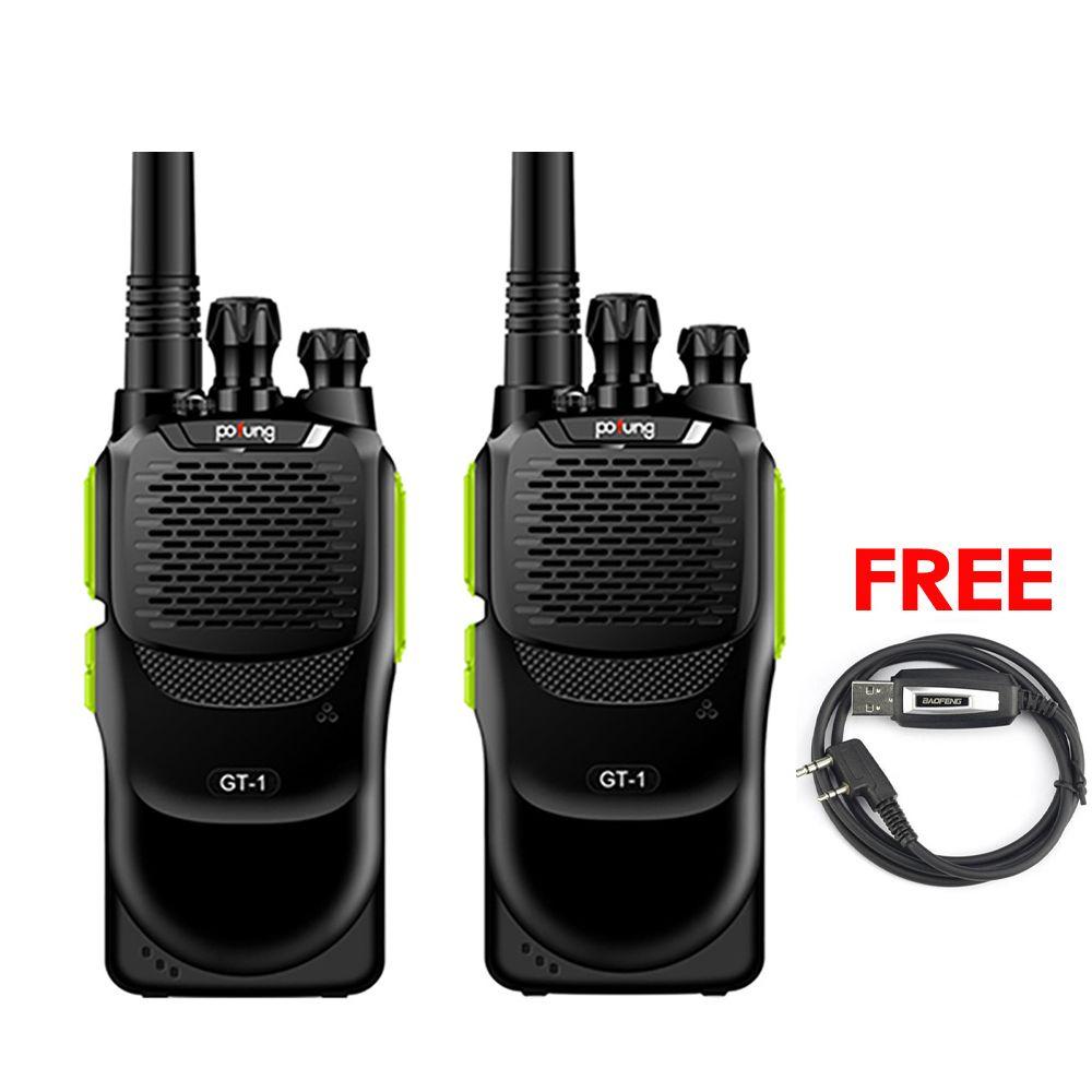 2 pièces Baofeng Pofung GT-1 UHF 70 cm 400-470 MHz 5 W 16CH FM bidirectionnel jambon à main Radio talkie-walkie vert