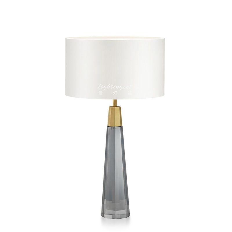 Ditoon Postmodernen Kristall Led Tisch Lampe Nacht Beleuchtung Schlafzimmer Eisen Lampe Design Nordic Einfache Leuchte Grau Weiß Glanz