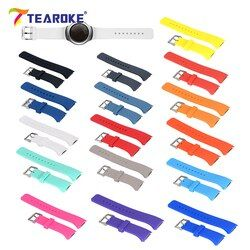 16 Colors Silicone Watchband for Samsung Galaxy Gear S2 R720 R730 Replacement Bracelet Band Strap for SM-R720 Smart Watch