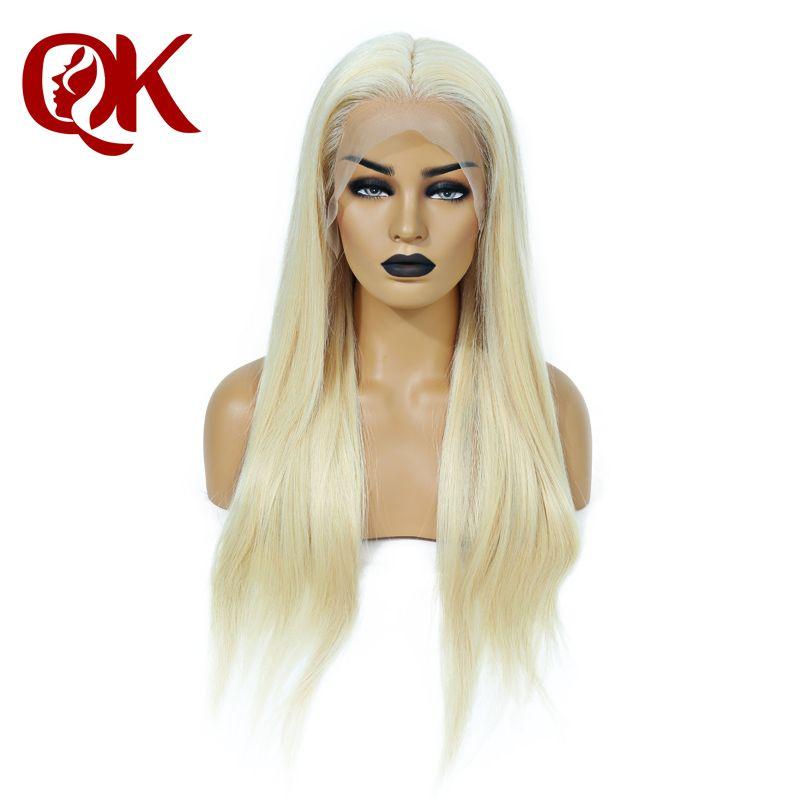 QueenKing haar Volle Spitze Perücke 200% Dichte Blonde 613 Seidige Gerade Preplucked Haaransatz 100% Brasilianische Menschliches Remy Haar