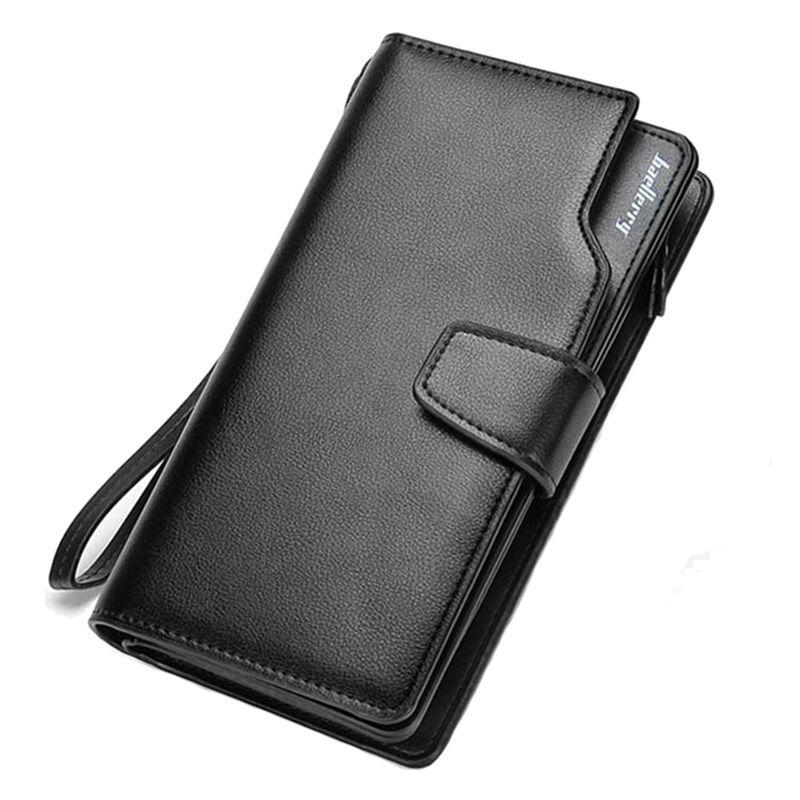 Baellerry portefeuille homme affaires pochette porte-monnaie à fermeture éclair porte-monnaie 3 plis téléphone porte-monnaie décontracté portefeuille multi-cartes porte-monnaie nouveau