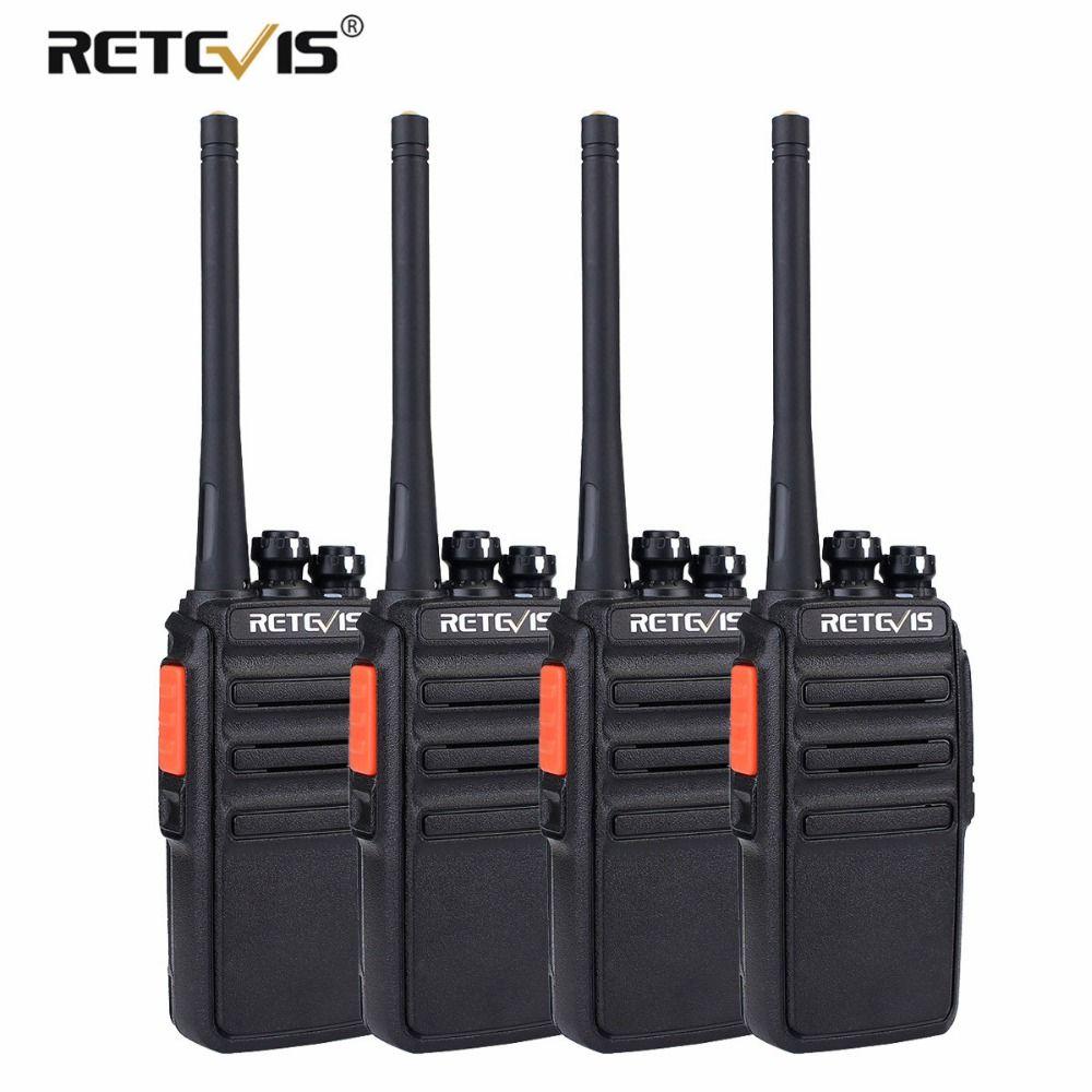 4pcs PMR446 Radio Retevis RT24 Walkie Talkie PMR License-free 0.5W UHF 446 Scrambler VOX Handy 2 Way Radio Station Comunicador