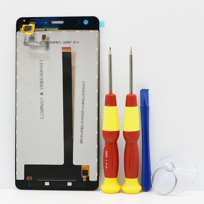 New original Touch Screen LCD Display LCD Screen For <font><b>Ulefone</b></font> Power Replacement Parts + Disassemble Tool+Glue TP205000B-FPCA-V1