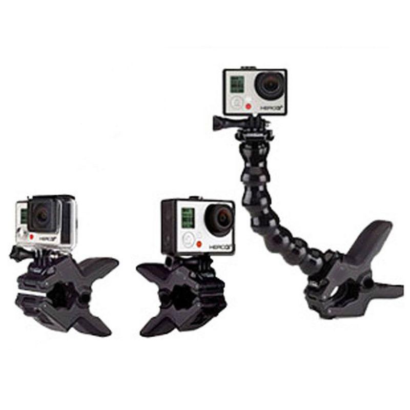 Gopro Mandíbulas Flex Clamp Mount Go Pro de Alta Calidad Ajustable Del Cuello para GoPro Héroe 4 3 + 3 Sj4000 sjcam acción Xiaomi Xiaoyi cámara