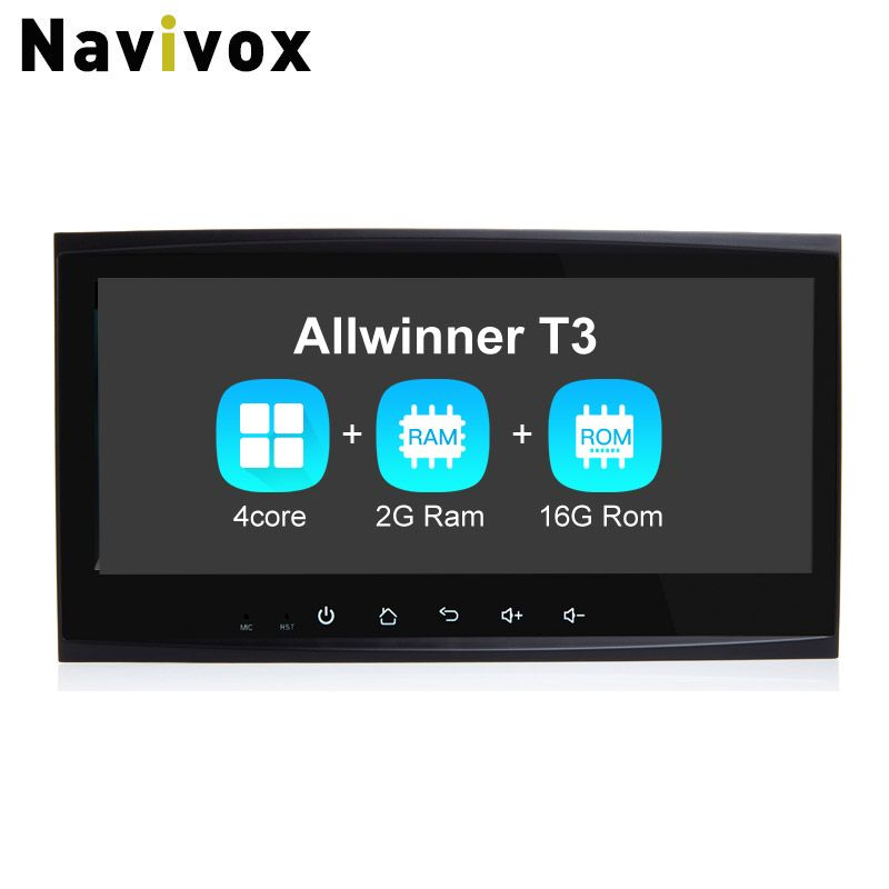 Navivox 8.8'' 2 din CarGPS Navigation Stereo Audio Player Android 7.1.1 Quad Core For Touareg Old Ram2G Car Radio GPS Navigation