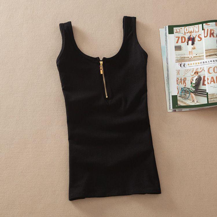 Nouveauté femmes mode décontracté solide coton sans manches gilet débardeur hauts t-shirt couleur bonbon basique Crop haut bustier femmes