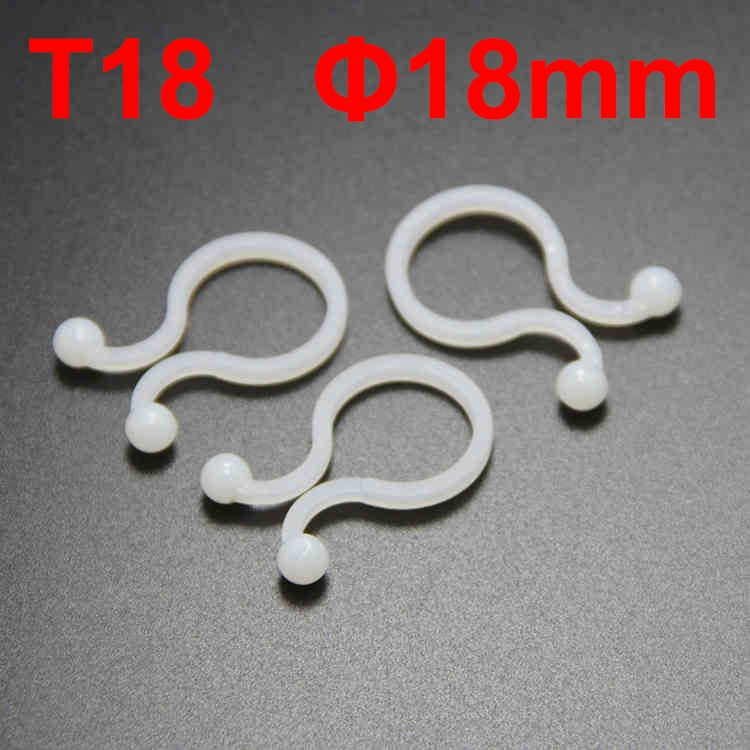 100pcs/Lot T18 18mm Dia Ball U Type White Nylon Plastic Round Circle Cable Clip Lock Network Wire Reusable Twist Tie