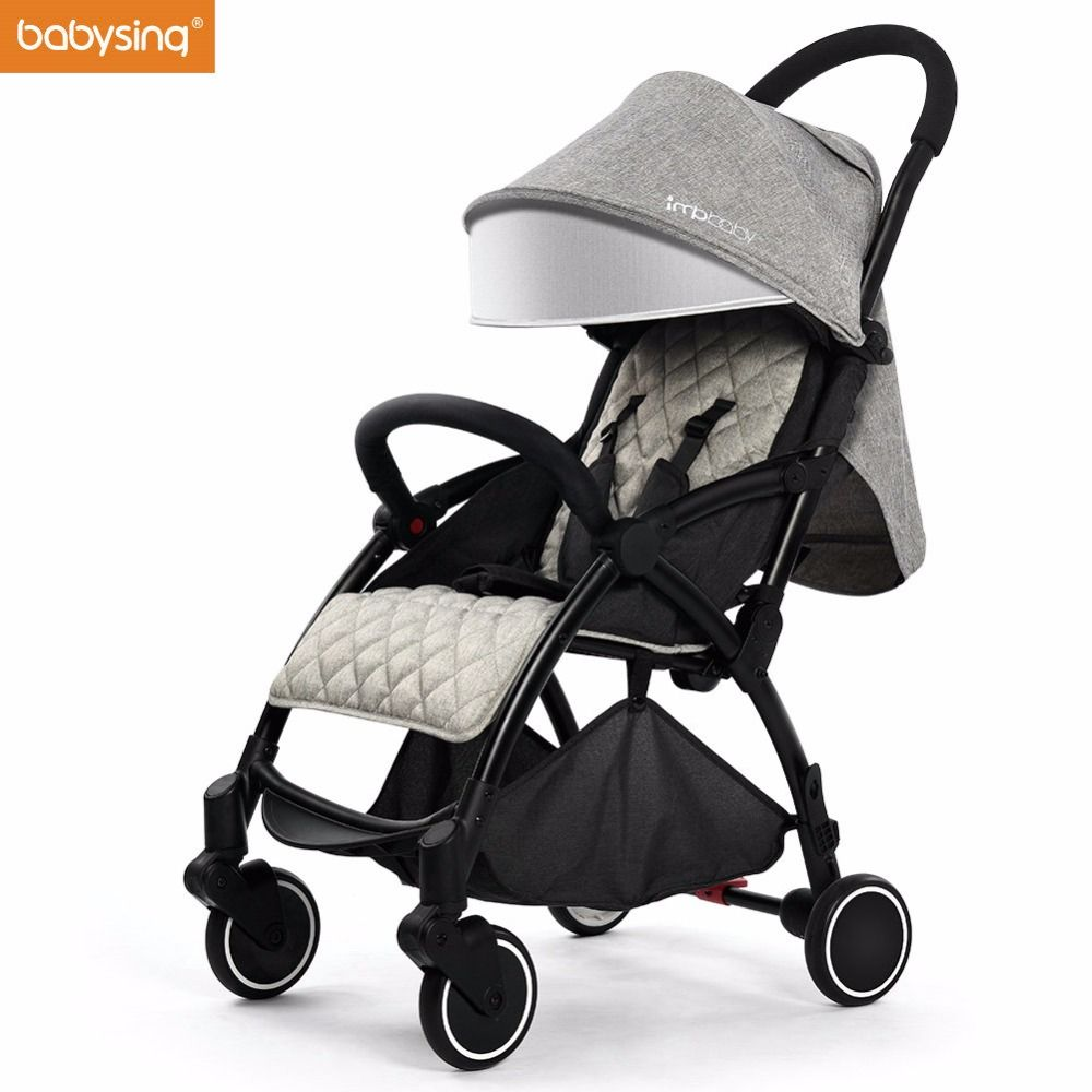 Babysing Lightweight Baby Stroller Suitable for Spring Summer Foldable Travel Umbrella Pram Easy to Put Into Airplane and Train