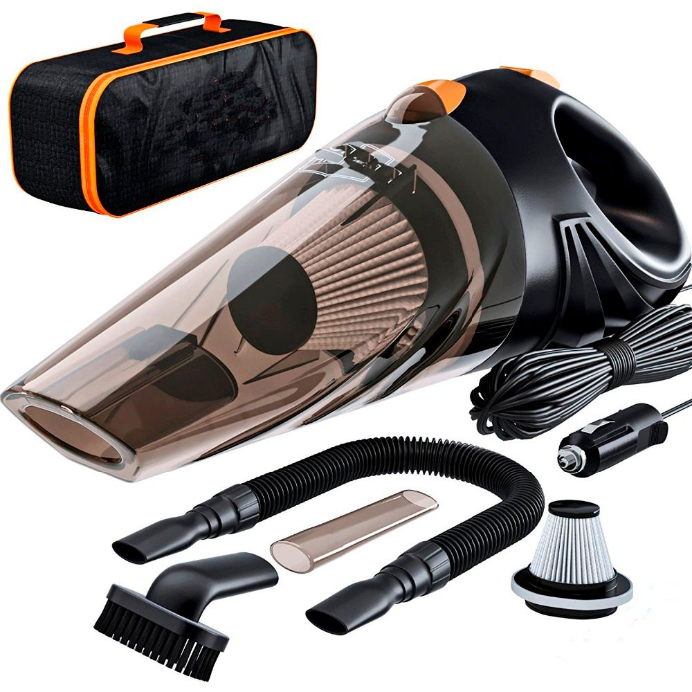 4800pa Strong Power Car Vacuum Cleaner DC 12 Volt 120W with Handbag 4.8KPA <font><b>Cyclonic</b></font> Wet / Dry Auto Portable Vacuums Cleaner Dust