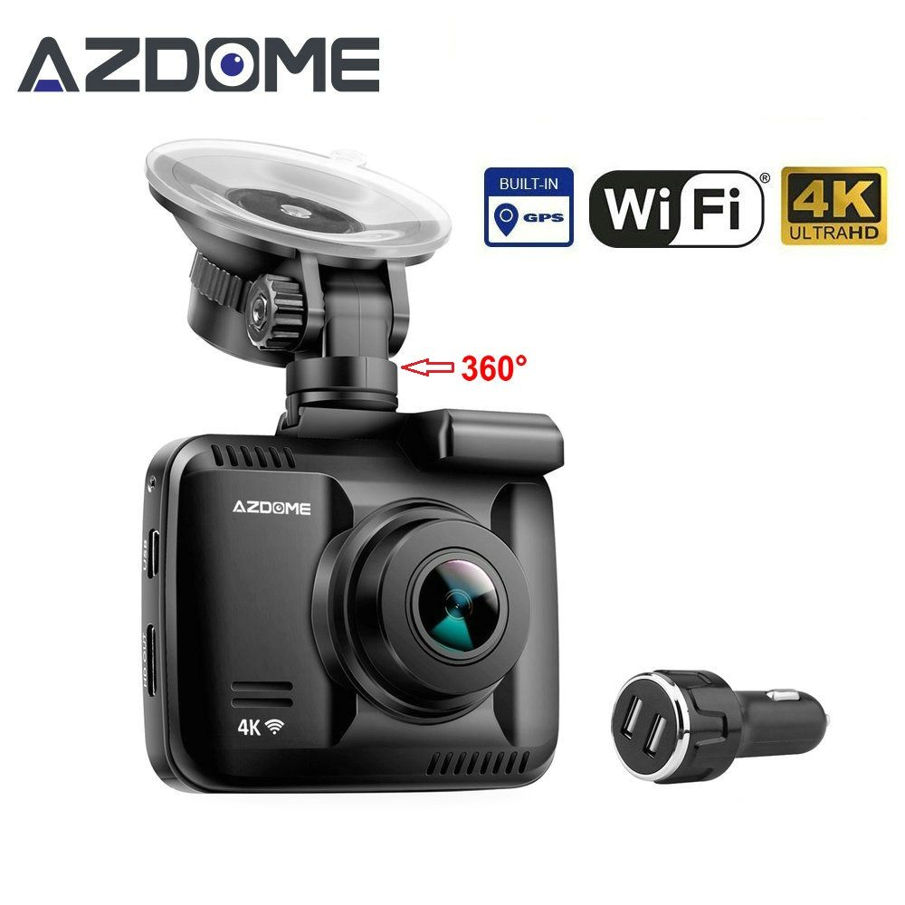 GS63H Car Dash Cam 4K 2880x2160P Dash Camera Dashcam With WiFi GPS G-Sensor Loop Recording Parking Monitoring Car Camera Azdome