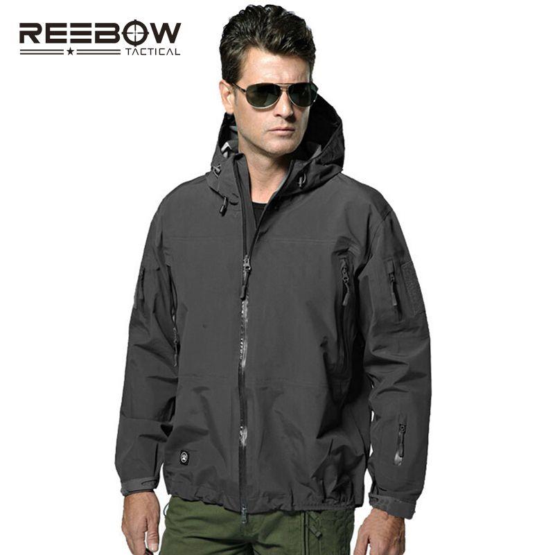 REEBOW TACTICAL Hardshell Men Outdoor Hiking Jacket Men Autumn Military SWAT Waterproof Windproof Coat Airsoft Paintball