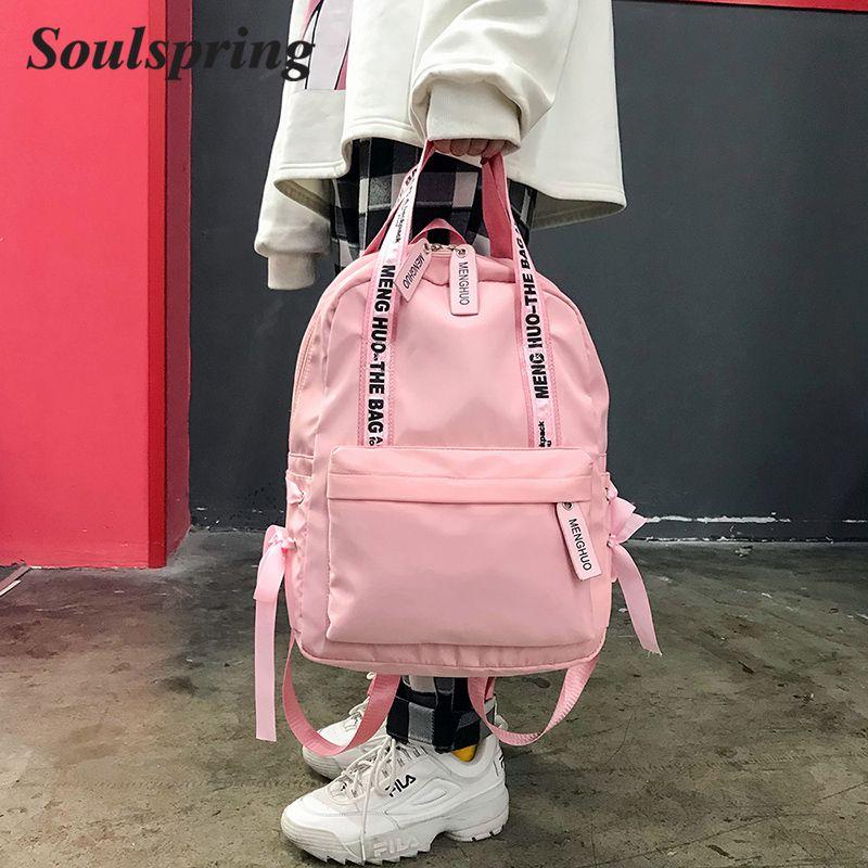 Mode 2018 sac à dos femmes Preppy sacs d'école pour adolescents sac à dos femme Nylon sacs de voyage filles Bowknot sac à dos Mochilas
