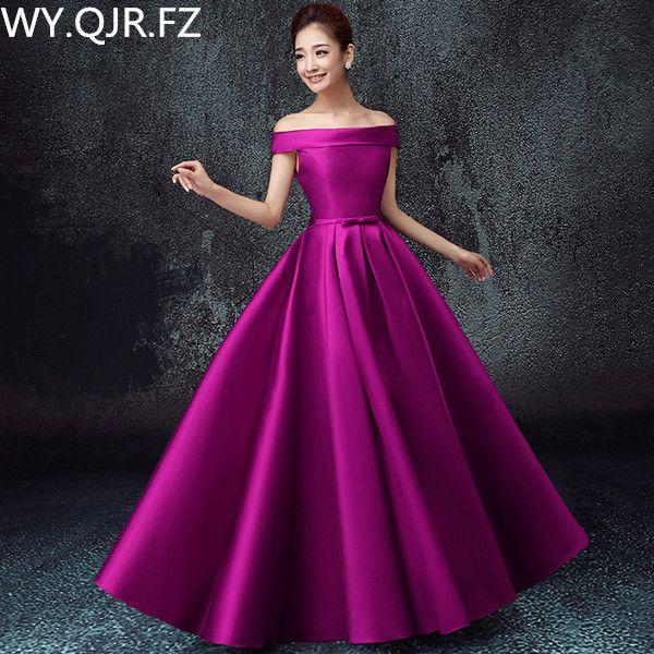 LBHS2145 # Off Épaule dentelle jusqu'à plus la taille 2017 nouvelle demoiselle d'honneur robes pour l'automne et d'hiver de mariée robe de mariage pas cher en gros