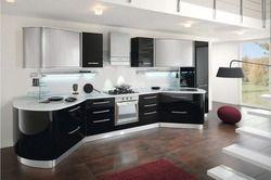 2017 горячей продаж современные high gloss white 2PAC кухонные шкафы настроены модульная кухонная мебель L1606033