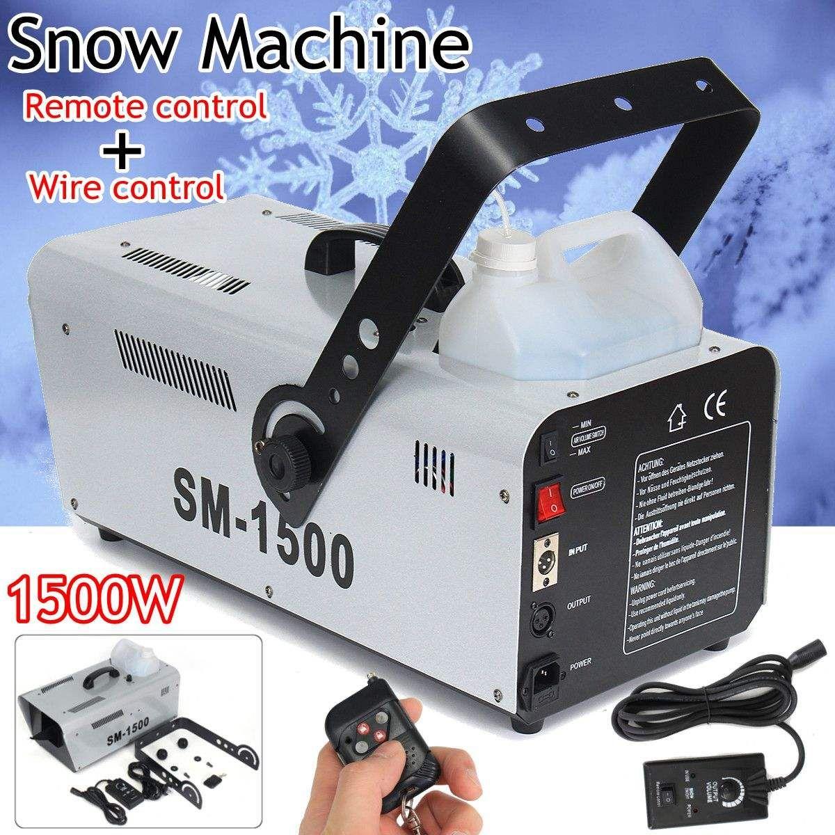 1500 Watt Hohe Leistung Schnee Maschine Künstliche Schneeflocke DJ Disco + fernbedienung & 5L Flüssigkeit Schnee Seifenschaum Wirkung Maschine DJ KTV
