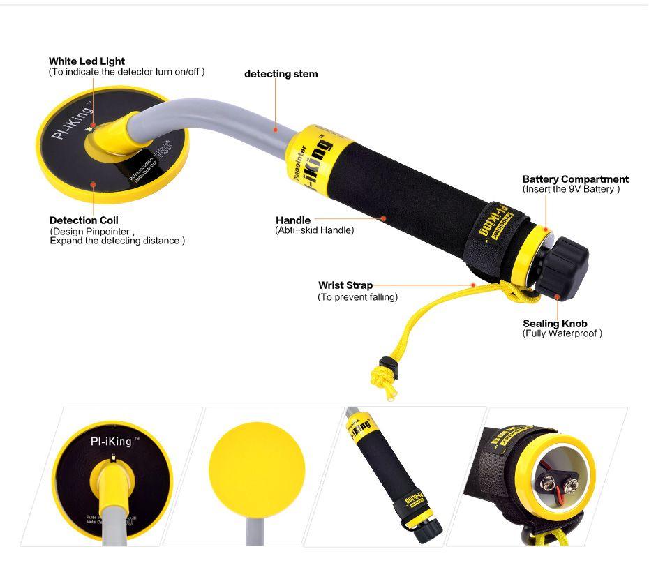 Pulse Induction Pro-Pointer Hand Held Metal Detector Pinpointer Detector full Waterproof 30M