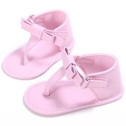 Été Bébé Sandales Filles En Cuir PU Bow Tie Princesse Chaussures sandalias bebe sandalia de bebe