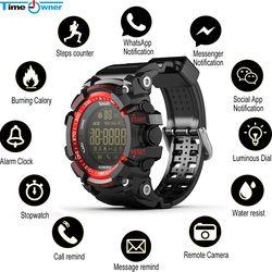 Waktu Pemilik Bluetooth Jam Sport Smart Jam Tangan 5 ATM Tahan Air Pedometer Call/SMS Pengingat Aplikasi Notifier Smartwatch